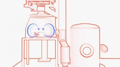 Glatt GmbH • Prozeßfluß im Cartoon-Style